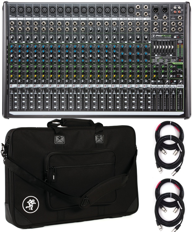 Mackie ProFX22v2 22-channel Mixer with Case and Cables image 1