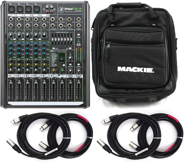 Mackie ProFX8v2 8-channel Mixer with Case and Cables image 1