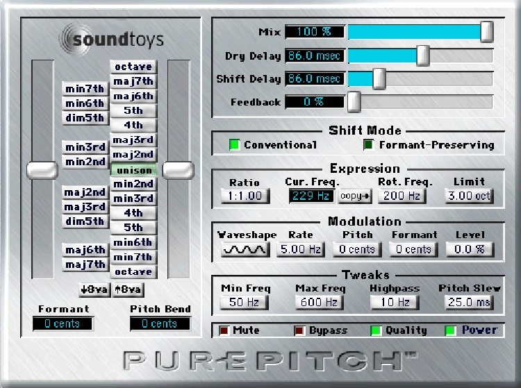 Soundtoys PurePitch Plug-in - TDM