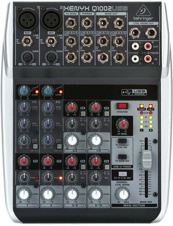 Behringer Xenyx Q1002USB Mixer and USB Audio Interface image 1