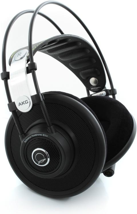 AKG Quincy Jones Q701 Stereo Headphones, Black - Semi-open image 1