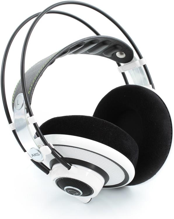 AKG Quincy Jones Q701 Stereo Headphones, White - Semi-open image 1