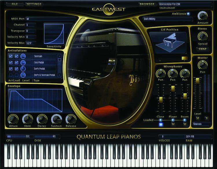 EastWest Quantum Leap Pianos - Gold Edition (download) image 1