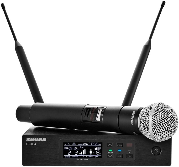 Shure QLXD24/SM58 Handheld Wireless Microphone System - G50 Band, 470-534 MHz image 1