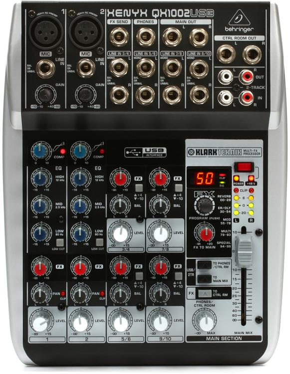 Behringer Xenyx QX1002USB Mixer and USB Audio Interface with Effects image 1