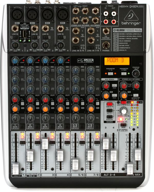 behringer xenyx qx1204usb mixer with usb and effects sweetwater. Black Bedroom Furniture Sets. Home Design Ideas