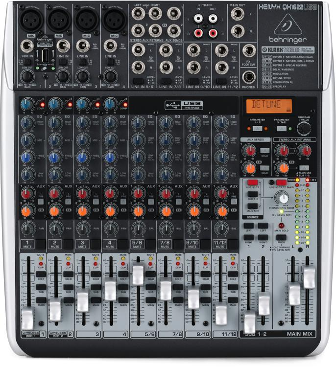 Behringer Xenyx QX1622USB Mixer and USB Audio Interface with Effects image 1