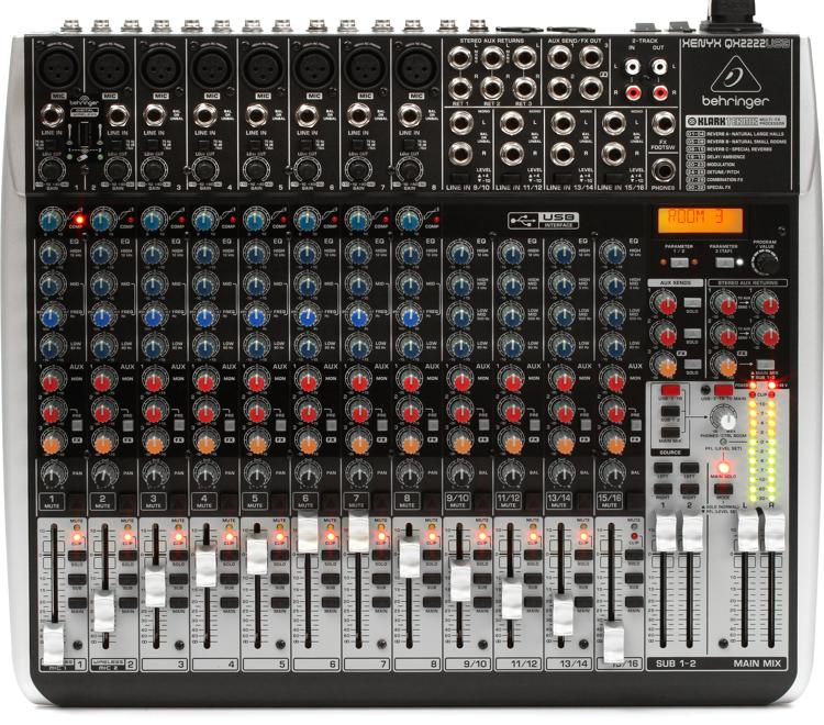 Behringer Xenyx QX2222USB Mixer and USB Audio Interface with Effects image 1