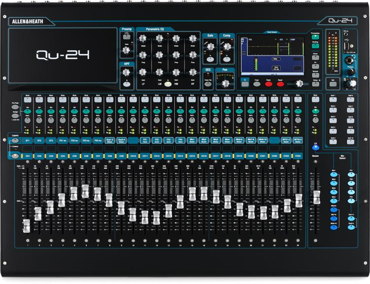 Allen & Heath Qu-24 Chrome Edition image 1