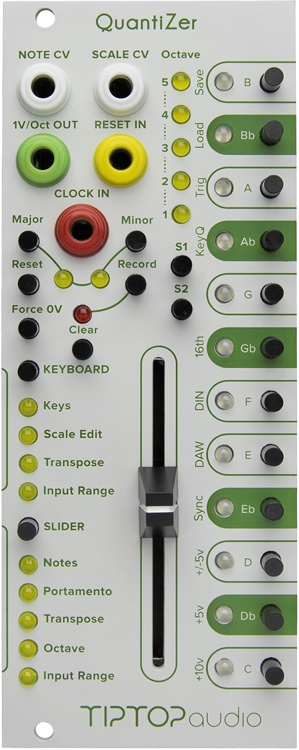 tiptop audio quantizer eurorack cv to musical note