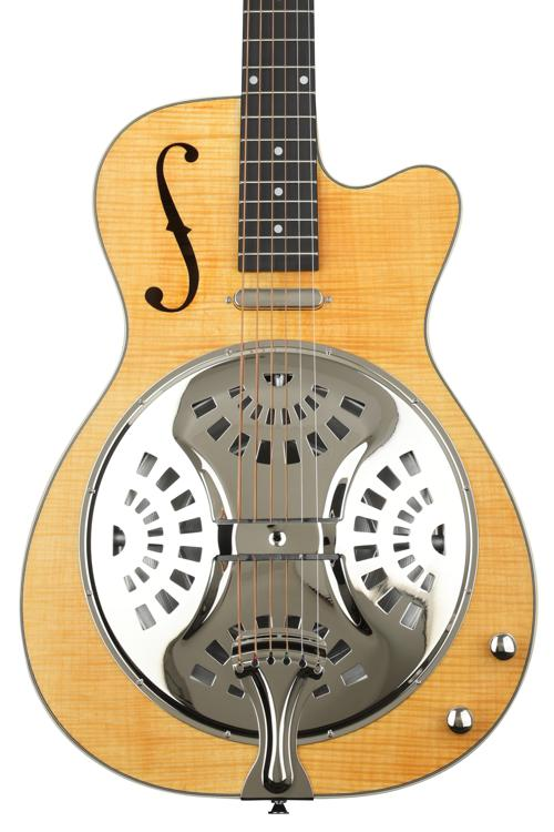 Washburn R45RCE Resonator - Amber Stained Oil image 1