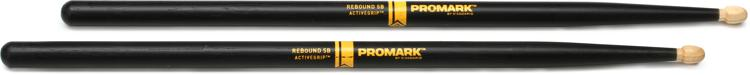 Promark Rebound Balance Drumsticks with ActiveGrip - 5B - Acorn Tip image 1