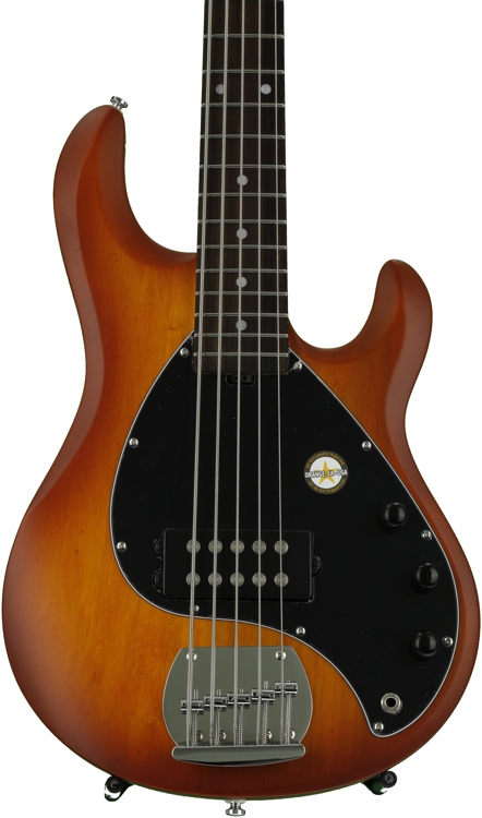 Sterling Ray5 S.U.B. series - Honeyburst Satin, Rosewood Fretboard image 1