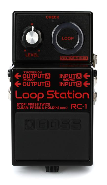 boss rc 1 loop station looper pedal black sweetwater. Black Bedroom Furniture Sets. Home Design Ideas