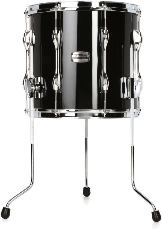 Yamaha recording custom floor tom 13 x14 solid black for 13 inch floor tom