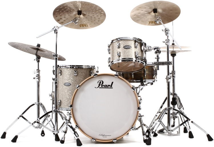 Pearl Music City Custom Reference Series Shell Pack 3-piece - Diamond Glitter Wrap image 1