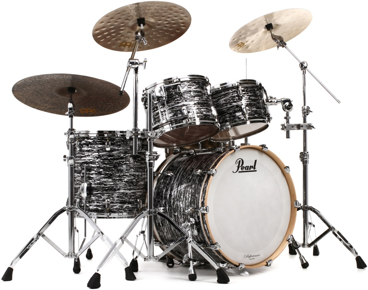 Pearl Music City Custom Reference Series Shell Pack - 4-piece Classic - Black Oyster Glitter image 1