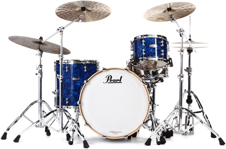 Pearl Music City Custom Reference Pure Shell Pack 3-piece - Blue Abalone Wrap image 1