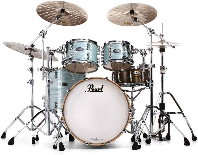 Pearl Music City Custom Reference Pure Shell Pack 4-piece - Ice Blue Oyster Wrap image 1