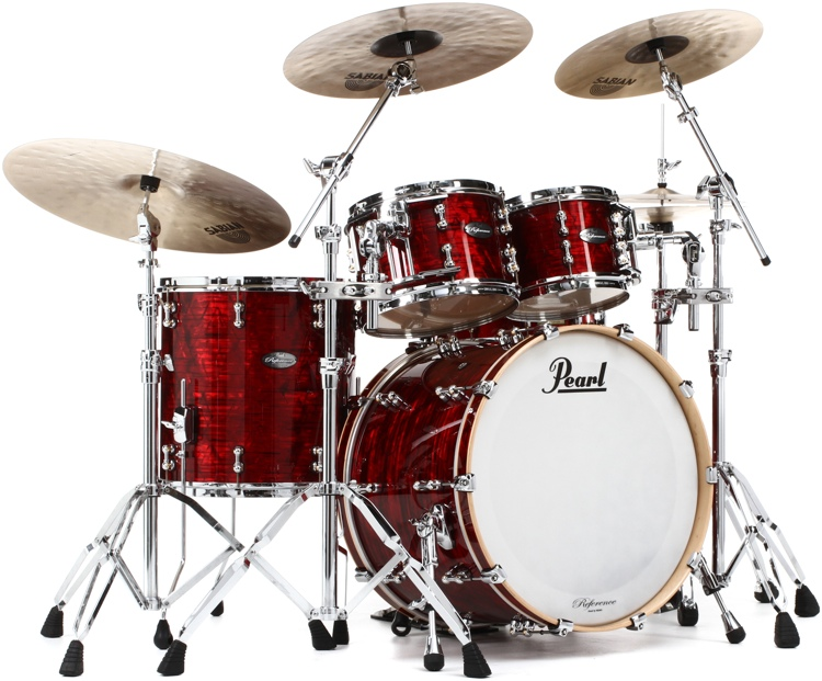 Pearl Music City Custom Reference Pure Shell Pack - 4-piece - Red Onyx Wrap image 1
