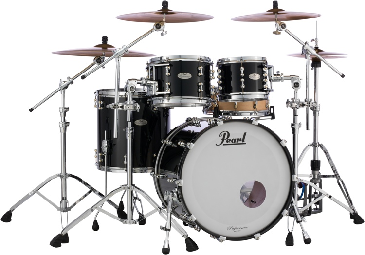 Pearl Reference Pure 4-piece Shell Pack - Piano Black image 1
