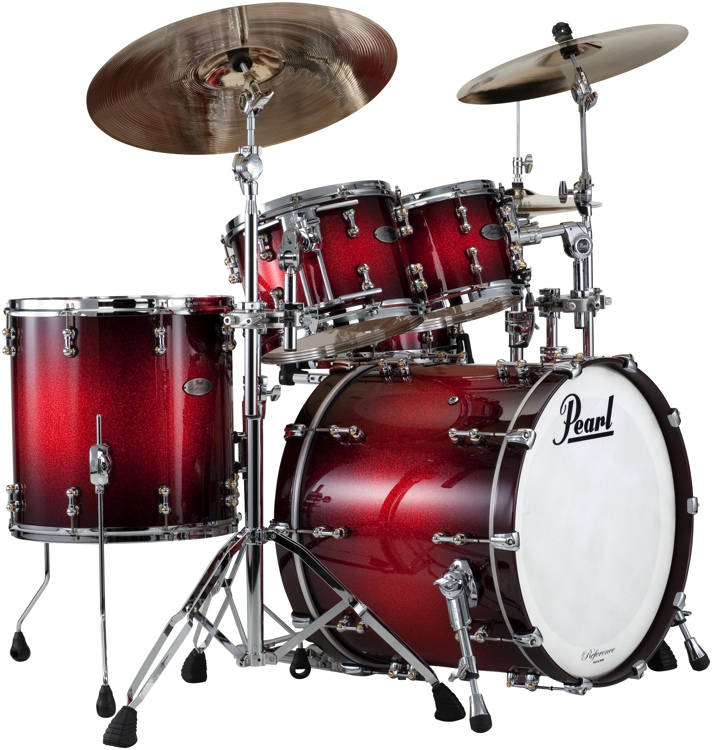 Pearl Reference Pure 4-piece Shell Pack - Scarlet Sparkle Burst image 1