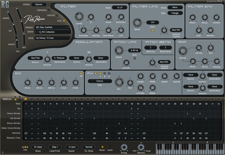 Rob Papen RG Rhythm Guitar Groove Generation Software image 1