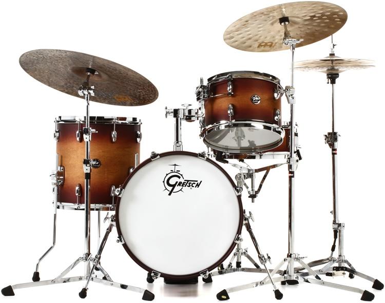 Gretsch Drums Renown 3-piece Jazz Shell Pack - Satin Tobacco Burst image 1