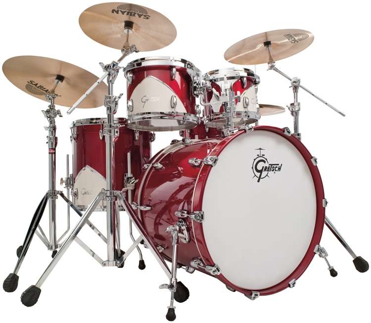 Gretsch Drums Limited Edition Renown \'57 5-Piece Shell Pack - Motor City Red image 1