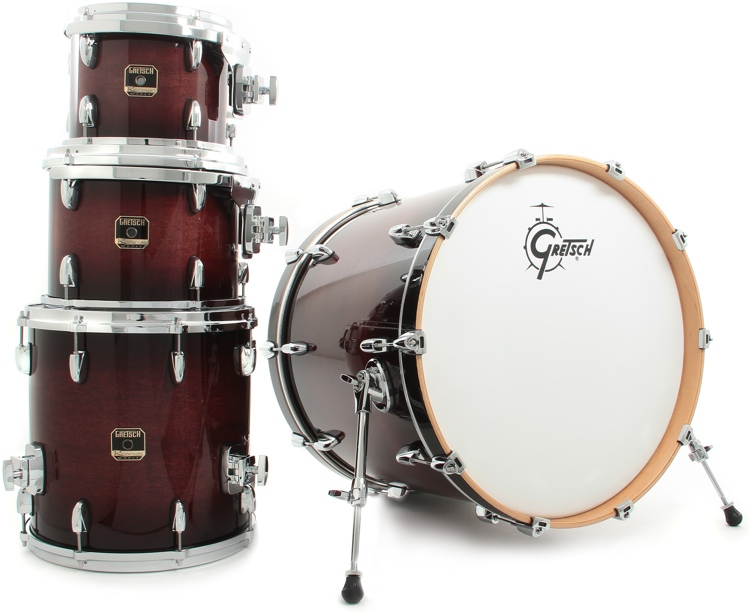 Gretsch Drums Renown Maple 4pc Shell Pack - Cherry Burst image 1