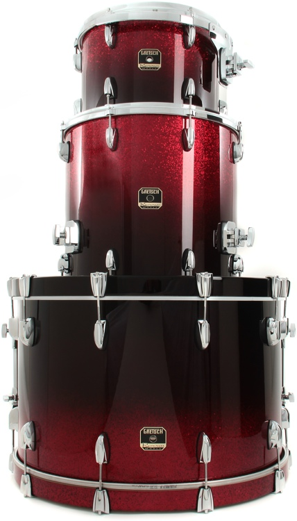Gretsch Drums Renown Maple 3pc Shell Pack - Ruby Sparkle Fade image 1
