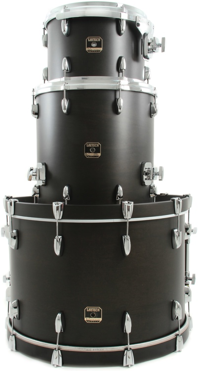 Gretsch Drums Renown Maple 3pc Shell Pack - Satin Black image 1