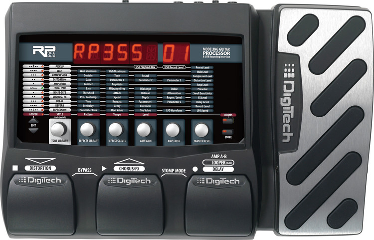DigiTech RP355 Guitar Multi Effects Pedal with Expression Pedal image 1