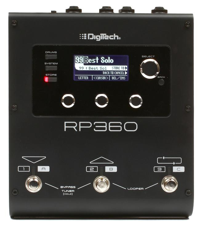 digitech rp360 multi fx pedal with usb sweetwater. Black Bedroom Furniture Sets. Home Design Ideas