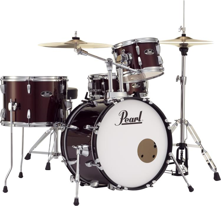 Pearl Roadshow 4 Piece Complete Drum Set With Cymbals