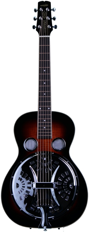 Wechter Guitars Scheerhorn Resonator Maple - R Hole, Antique Sunburst image 1