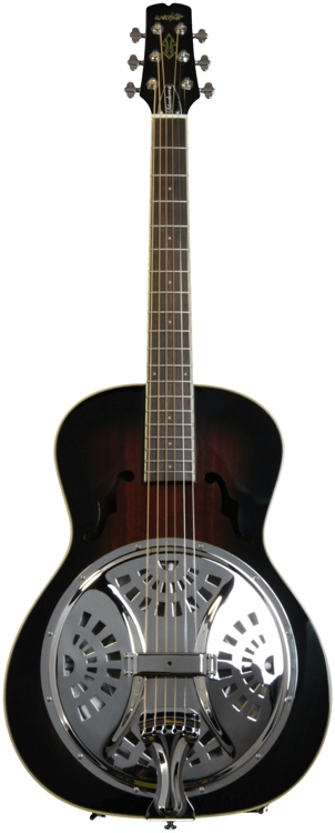 Wechter Guitars Scheerhorn Model Roundneck Resonator Guitar - F Hole, Tobacco Sunburst image 1