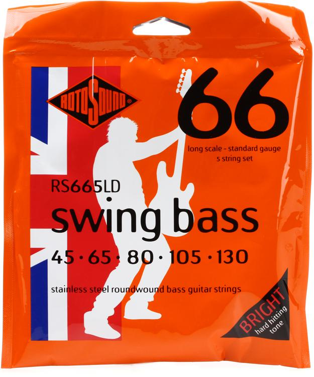 Rotosound RS665LD Swing Bass 66 Stainless Steel Roundwound Long Scale 5-String Bass Strings image 1