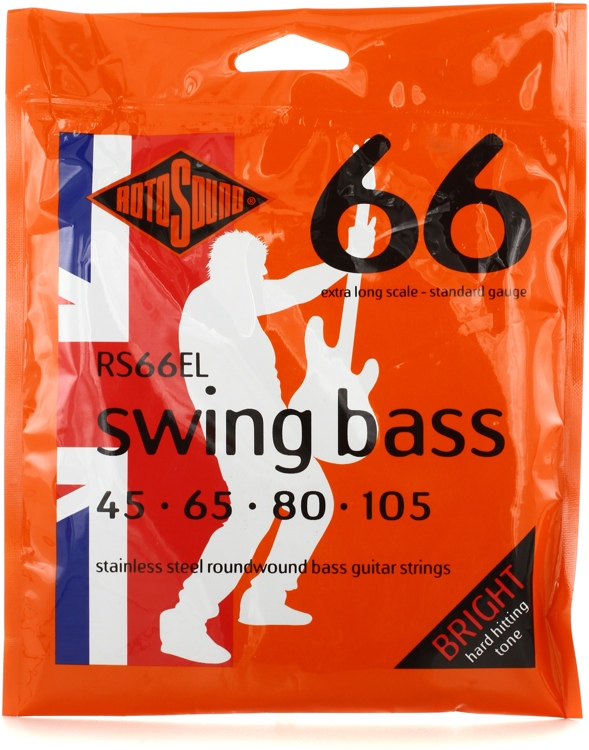 Rotosound RS66EL Swing Bass 66 Stainless Steel Roundwound Extra Long Scale Bass Strings image 1