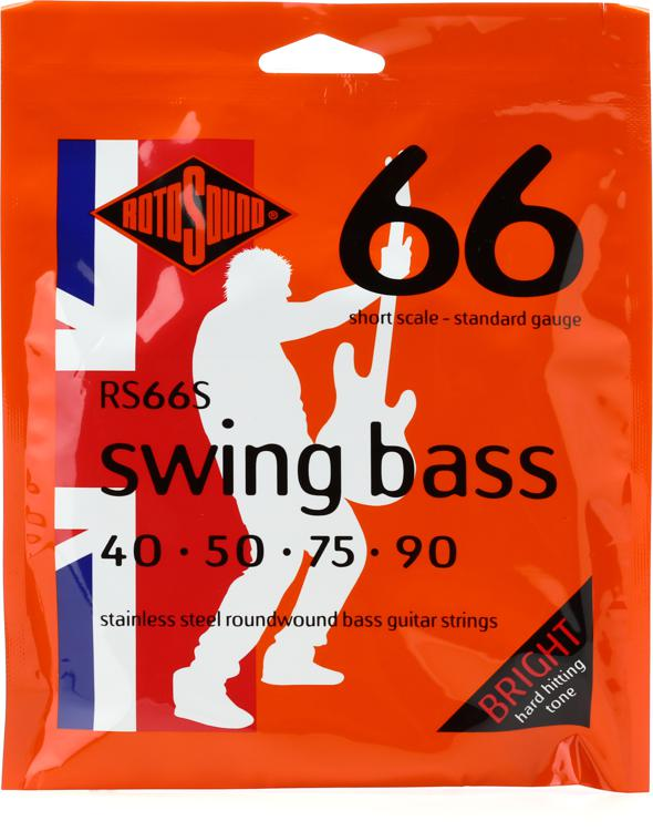 Rotosound RS66S Swing Bass 66 Stainless Steel Roundwound Short Scale Bass Strings image 1