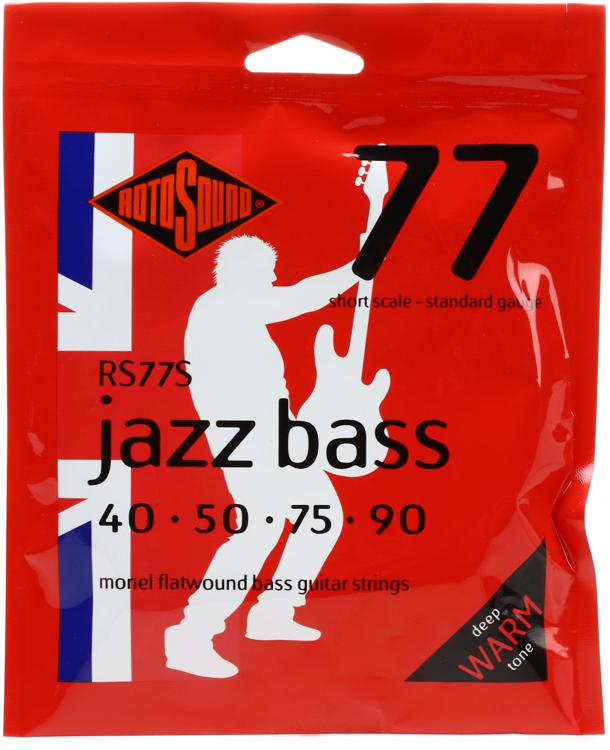 Rotosound RS77S Jazz 77 Monel Flatwound Short Scale Bass Strings image 1