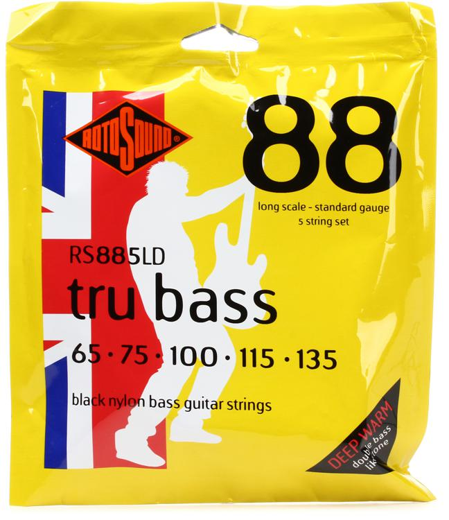 Rotosound RS885LD Tru Bass 88 Black Nylon Tapewound Long Scale 5-String Bass Strings image 1