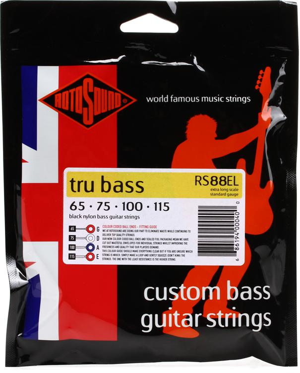 Rotosound RS88EL Tru Bass 88 Black Nylon Tapewound Extra-Long Scale Bass Strings image 1