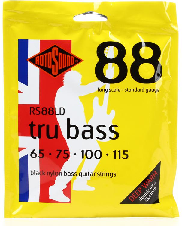 Rotosound RS88LD Tru Bass 88 Black Nylon Tapewound Long Scale Bass Strings image 1