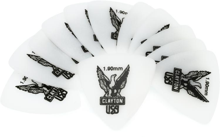 Clayton Acetal Rounded Triangle Picks 12-pack 1.90mm image 1