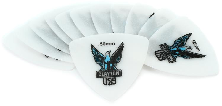 Clayton Acetal Rounded Triangle Picks 12-pack .50mm image 1