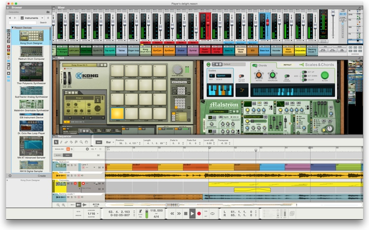 Propellerhead Reason 9 for Schools & Institutions - 5-user Networked Site License Upgrade (boxed) image 1