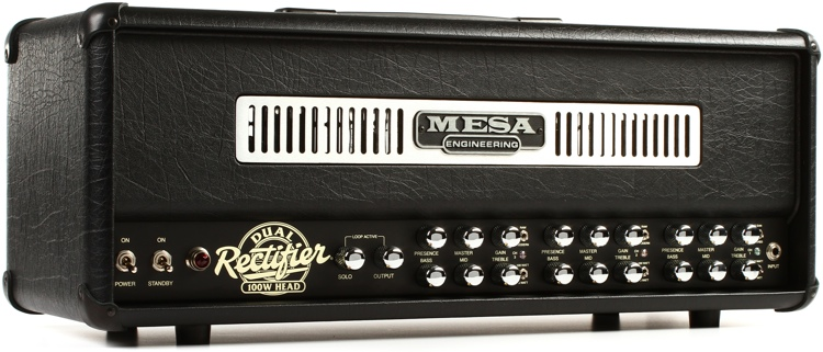 Mesa/Boogie Dual Rectifier 100-watt Tube Head - Black Taurus Faceplate image 1