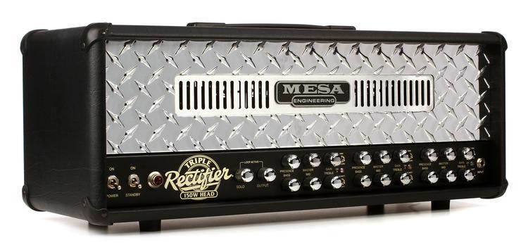 mesa boogie triple rectifier 150 watt tube head diamond faceplate sweetwater. Black Bedroom Furniture Sets. Home Design Ideas