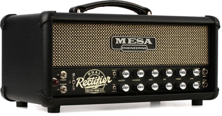 Mesa/Boogie Recto-Verb 25 - 25-watt Tube Head - Black with Cream & Black Grille image 1
